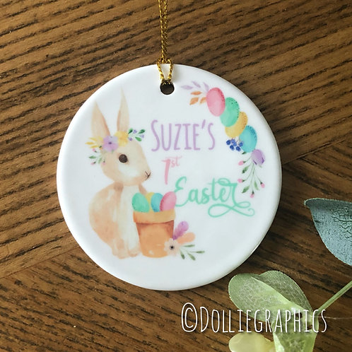 Personalised 1st Easter Rabbit Bauble