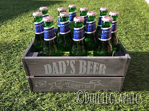 Dad's Personalised Beer Crate