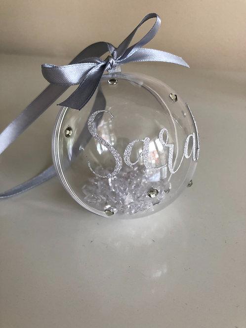Personalised Diamante Bauble