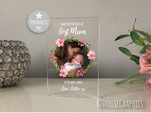 Personalised Best Mum Plaque