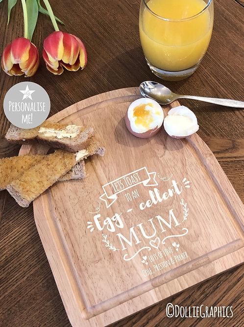 Personalised Dippy Egg Board - EGG cellent