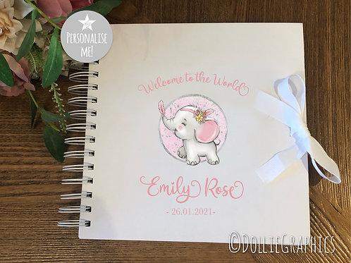 Personalised Baby Girl Keepsake Book