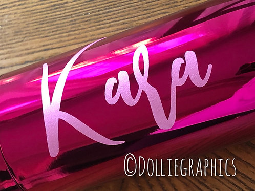 Personalised Metallic Pink Insulated Bottle