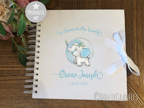 Personalised Baby Boy Keepsake Book