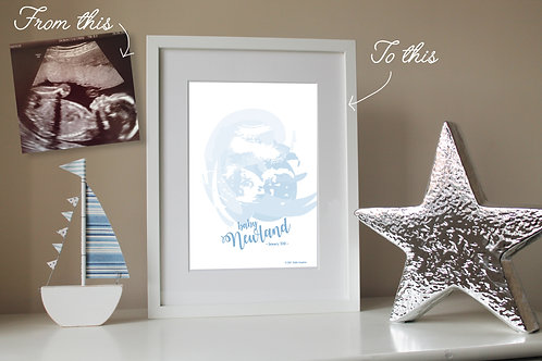 PERSONALISED BABY SCAN PRINT