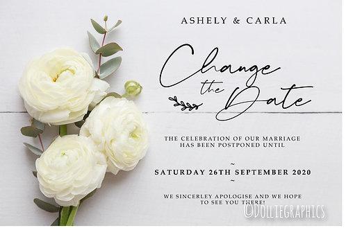 Digital Download Change the Wedding Date