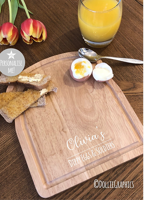 Personalised Dippy Egg Boards -Simple