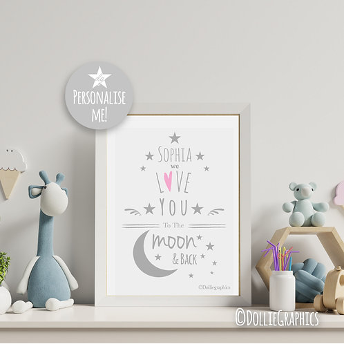 Personalised Moon and Back Print