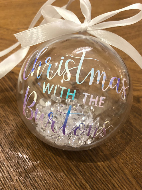 Personalised Christmas With Bauble