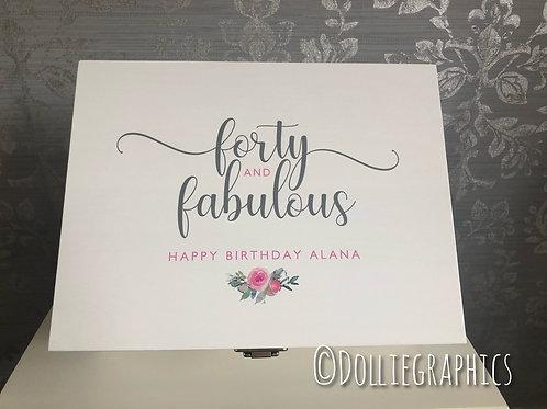 Personalised  Birthday Keepsake Box