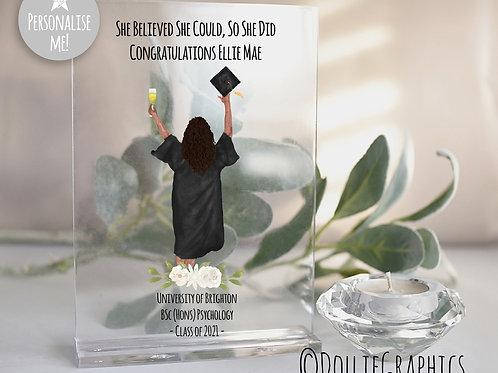 Personalised Graduation Plaque Black