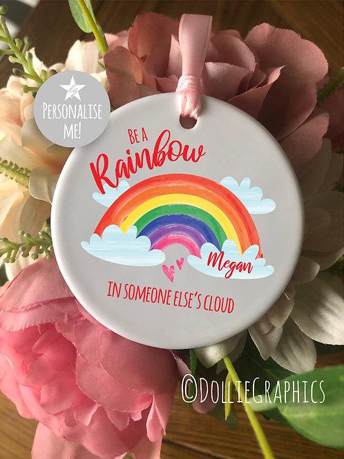 Personalised Rainbow Bauble