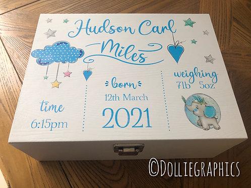 Personalised  New Baby Keepsake Box