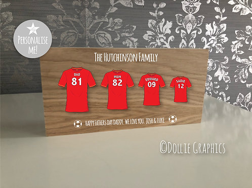 Personalised Father's Day Football Plaque