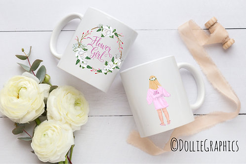 Personalised Flower Girl Mug