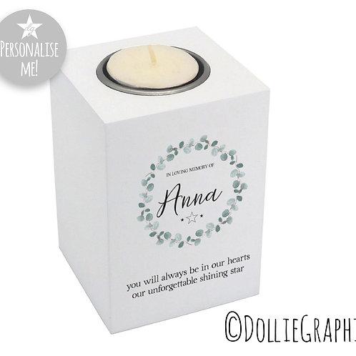 Personalised Tealight Holder - Shining Light