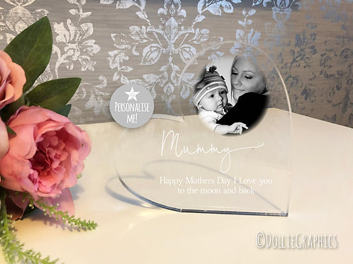 Personalised Acrylic Mother's Day Heart