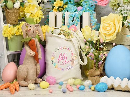Personalised Easter Wreath Gift Bag