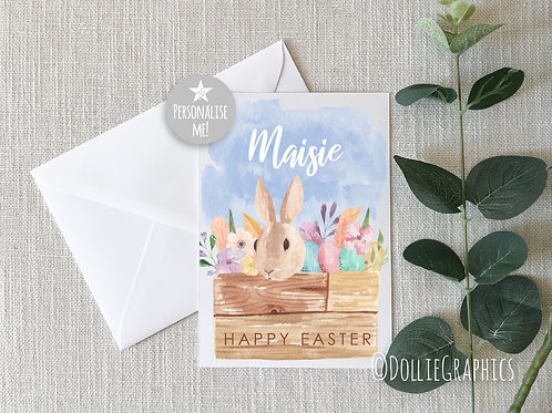 Personalised Easter Card - Bunny