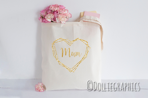 Personalised Heart Tote Bag