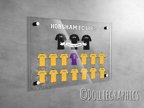 Personalised Football Team Acrylic Print