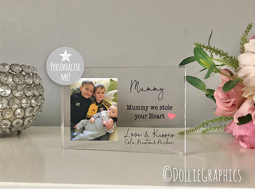 Personalised Acrylic Mum Plaque