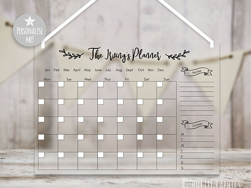 Personalised Family Planner - Monthly Chic