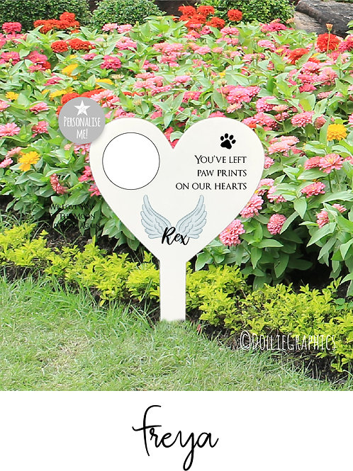 Personalised Pet Heart Grave Marker