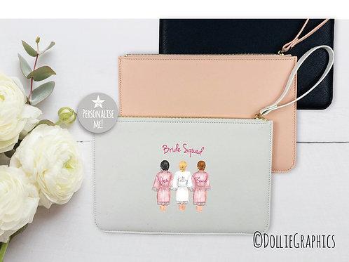 Personalised Bride Squad Clutch