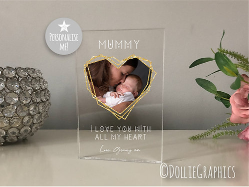Personalised Mummy Heart Plaque