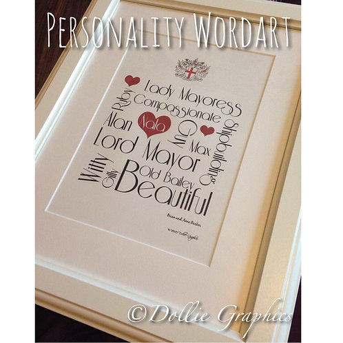 PERSONALITY TYPOGRAPHY PRINT
