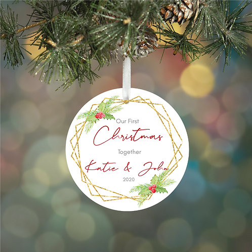 Personalised First Christmas Together Decoration