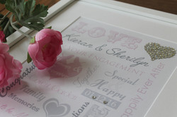 Typographic Wedding Wordart