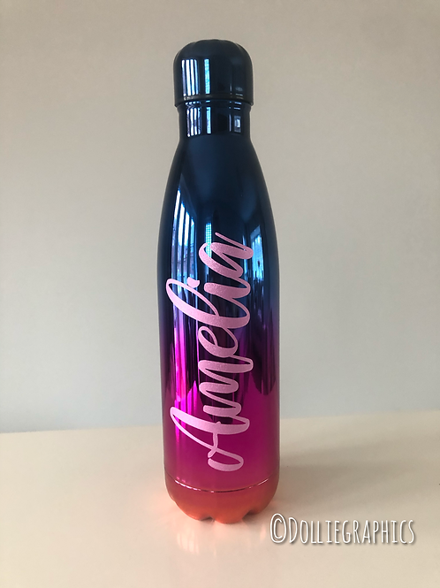 Personalised Iridescent Water bottle