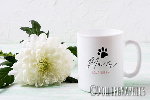 Personalised Dog Mum Cup/Mug