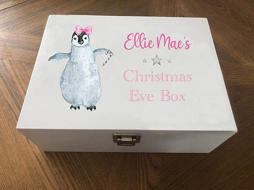 Personalised  Penguin Christmas Eve Box