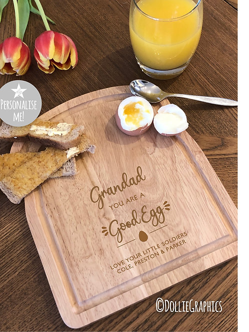 Personalised Dippy Egg Board - Good Egg