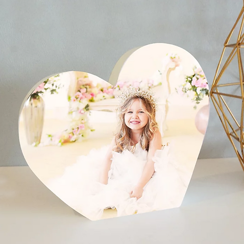 Personalised Heart Photo Block