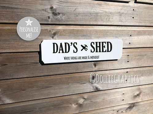 Dad's Personalised Shed Sign