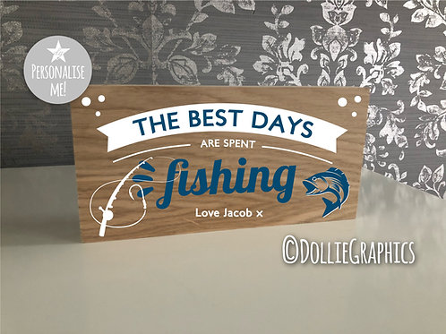 Personalised Fishing Plaque