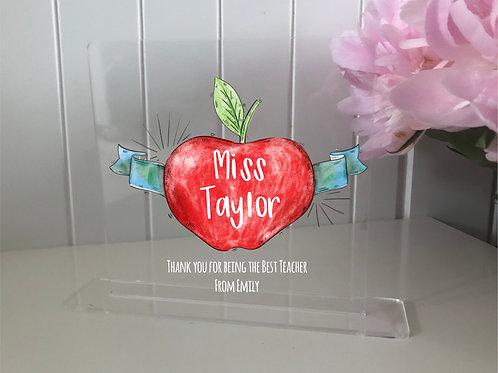 Personalised Teachers Apple Plaque