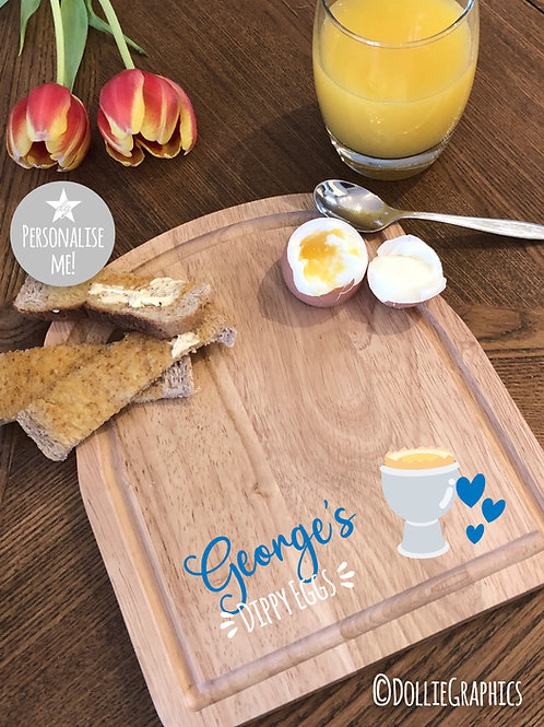 Personalised Dippy Egg Board - EGG style