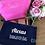 Thumbnail: Personalised Bridesmaid Hen Canvas Accessory Bag
