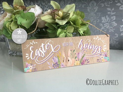 Personalised Hanging Easter Sign