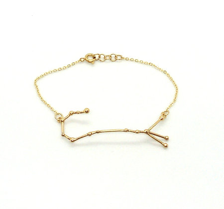 bracelet or signe zodiaque constellation scorpion créateur perseïdes boutique Cam Le Mac