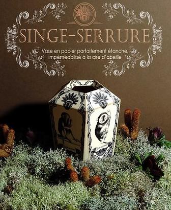 vase singe création etienne viollet papier cire d'abeille accessoires déco boutique cam le mac
