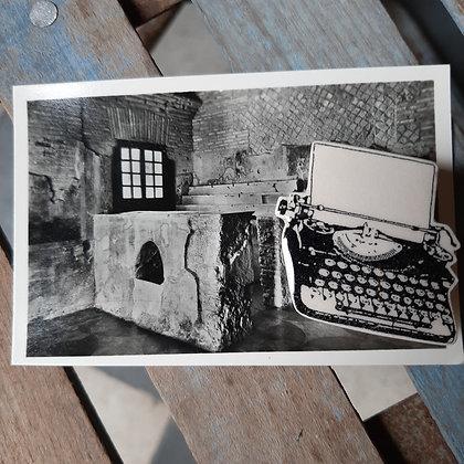 broche céramique machine à écrire Stéphanie Cahorel photo vintage
