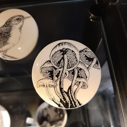broche céramique champignons créateur Stéphanie Cahorel