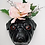 vase murale trophée quel ceramics cabinet de curiosités boutique cam le mac bouledogue noir