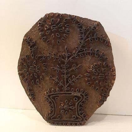 Ancien tampon textile bouquet